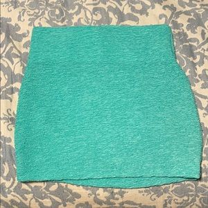 Turquoise mini skirt